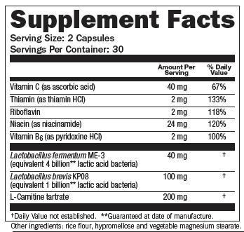 RegActiv Immune Vitality Supplement Facts
