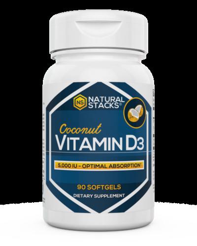 Natural Stacks Vitamin D3 Bottle Front