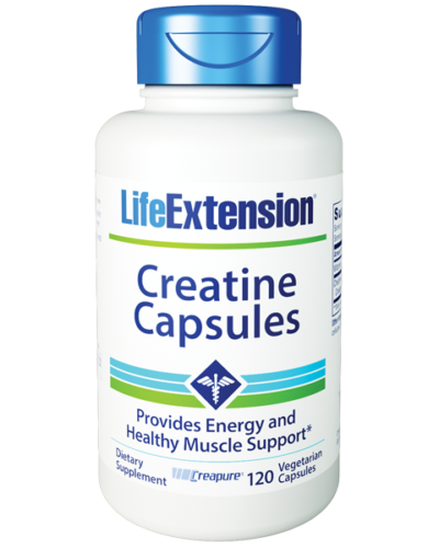 Life Extension Creatine 120 Cap Bottle