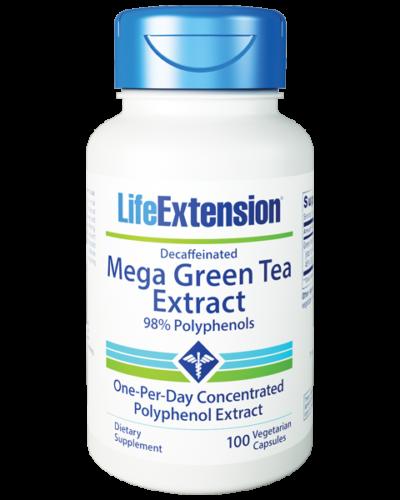 Life Extension Decaff Mega Green Tea 100 Cap bottle