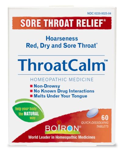 ThroatCalm Boiron Homeopathic