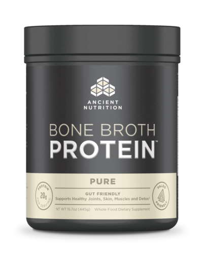 Dr Axe Ancient Nutrition Bone Broth Pure FRONT